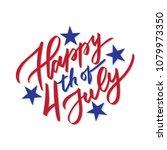 happy 4th of july   vector... | Shutterstock .eps vector #1079973350