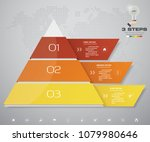 3 steps pyramid with free space ... | Shutterstock .eps vector #1079980646