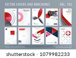 design set of colourful... | Shutterstock .eps vector #1079982233