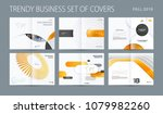 design set of abstract double... | Shutterstock .eps vector #1079982260