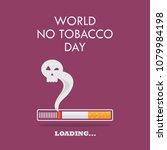 cigarette burning as cancer... | Shutterstock .eps vector #1079984198