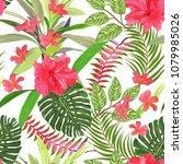 floral seamless pattern.... | Shutterstock .eps vector #1079985026