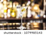 closeup glass of martini dry... | Shutterstock . vector #1079985143