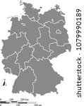 germany map vector outline with ... | Shutterstock .eps vector #1079990189