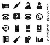 flat vector icon set   phone...   Shutterstock .eps vector #1079992916