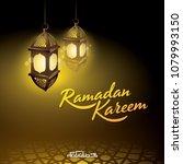 ramadan kareem islamic design... | Shutterstock .eps vector #1079993150