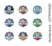 soccer badge with country flag... | Shutterstock .eps vector #1079993420