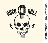 rock and roll music poster.... | Shutterstock .eps vector #1079996906