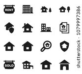 flat vector icon set   house... | Shutterstock .eps vector #1079997386