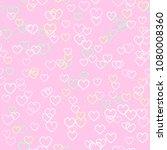 heart pattern. seamless vector | Shutterstock .eps vector #1080008360
