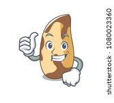thumbs up brazil nut character... | Shutterstock .eps vector #1080023360
