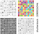 100 outfit icons set vector in... | Shutterstock .eps vector #1080026546
