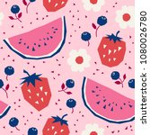 seamless pattern with... | Shutterstock .eps vector #1080026780