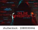 online predator concept with... | Shutterstock . vector #1080030446