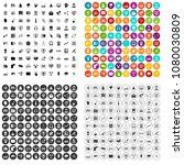 100 on line seminar icons set... | Shutterstock .eps vector #1080030809