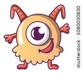 happy monster icon. cartoon... | Shutterstock .eps vector #1080030830