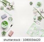 natural herbal skin care...   Shutterstock . vector #1080036620