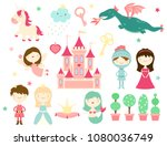 vector collection of cute fairy ... | Shutterstock .eps vector #1080036749