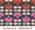 seamless retro pattern with... | Shutterstock .eps vector #1080044210