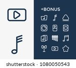 music icon set and drums with...