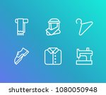 clothing icon set and shoe with ...
