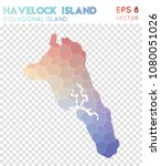 havelock island polygonal ... | Shutterstock .eps vector #1080051026