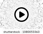 black play icon inside black... | Shutterstock . vector #1080053363