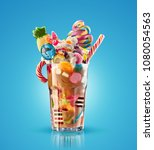 monster shake  freak caramel... | Shutterstock . vector #1080054563