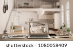 architect designer desktop... | Shutterstock . vector #1080058409