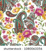 Traditional Indian Paisley With ...
