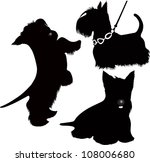 Set Of Scotch Terrier Isolated...