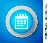 white calendar icon isolated on ... | Shutterstock .eps vector #1080068963
