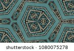 hand painted kaleidoscope tile. ... | Shutterstock . vector #1080075278