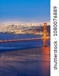 golden gate bridge in san... | Shutterstock . vector #1080076889