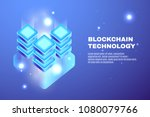 cryptocurrency and blockchain... | Shutterstock .eps vector #1080079766