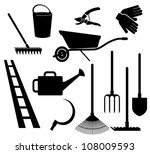 garden tools | Shutterstock .eps vector #108009593