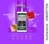 shopping online on website or... | Shutterstock .eps vector #1080097556