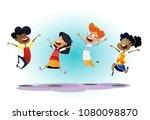 happy cartoon school...   Shutterstock .eps vector #1080098870