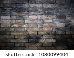 old brick wall background... | Shutterstock . vector #1080099404