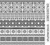 tribal ethnic seamless pattern. ... | Shutterstock .eps vector #1080100760