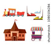 vector cartoon amusement theme... | Shutterstock .eps vector #1080106286
