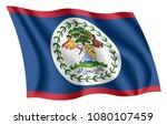 belize flag. isolated national... | Shutterstock .eps vector #1080107459