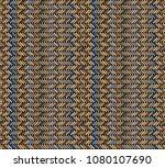 tribal multicolored herringbone ... | Shutterstock .eps vector #1080107690