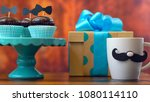 happy father's day close up of... | Shutterstock . vector #1080114110