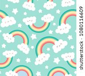 cute cloud background with... | Shutterstock .eps vector #1080116609