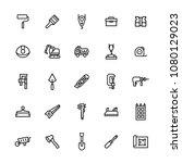 vector icon set of construction ...   Shutterstock .eps vector #1080129023