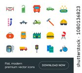 modern simple set of transports ... | Shutterstock .eps vector #1080136823
