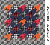 trendy plaid pattern with... | Shutterstock .eps vector #1080139340