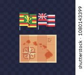 national hawaiian flag  the... | Shutterstock .eps vector #1080143399