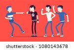 teenager boy bullying and... | Shutterstock .eps vector #1080143678